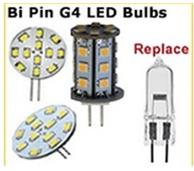 G4 halogen pin style replacement LED bulbs