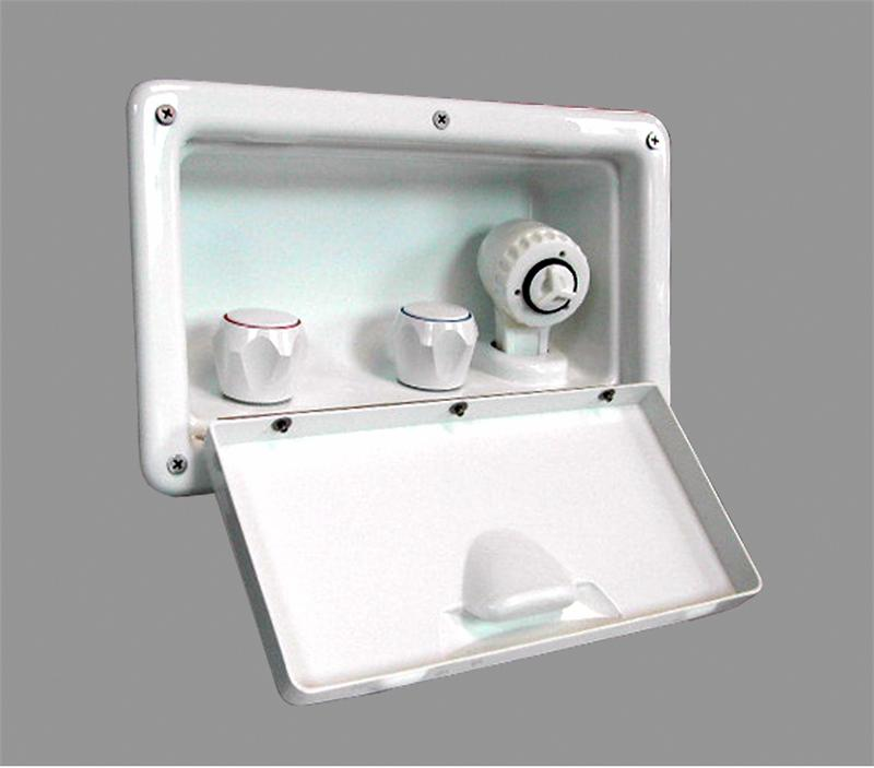 Stowaway Transom Shower White Spray Handle