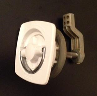 Perko White Flush Latch
