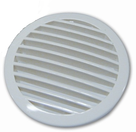 Vent Grill 3 Quot White Domed Press Fit