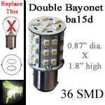 led replacement for double contact bayonet base bulb