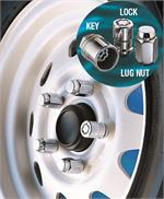 Trailer wheel locks and lug nuts