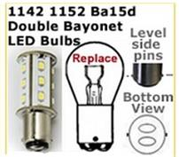Double contact bayonet base LED replacement bulbs