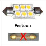 Festoon LED replacement bulbs