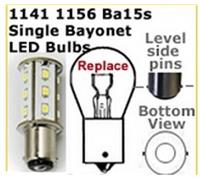 Single contact bayonet base LED replacement bulbs