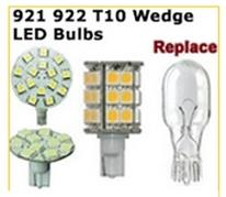Wedge base LED replacement bulbs