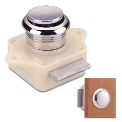 Stainless steel push button latch