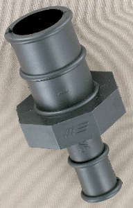 straight hose barb to hose barb connector