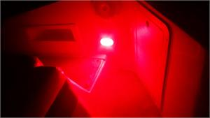 red wedge base LED bulb