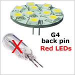red led bulb replaces G4 halogen bulbs
