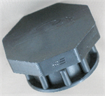 plastic threaded cap