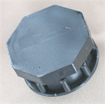 threaded plastic cap
