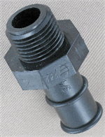 straight male pipe thread to hose barb connector