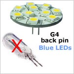 blue led bulb to replace 10W halogen bulb