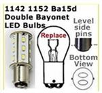 red led bulb to replace double contact bayonet base bulb